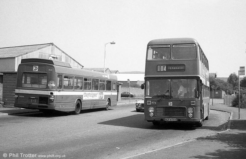 Bristol VRT SL3/ECW H43/31F 976 (BEP 976V) at Pontarddulais.