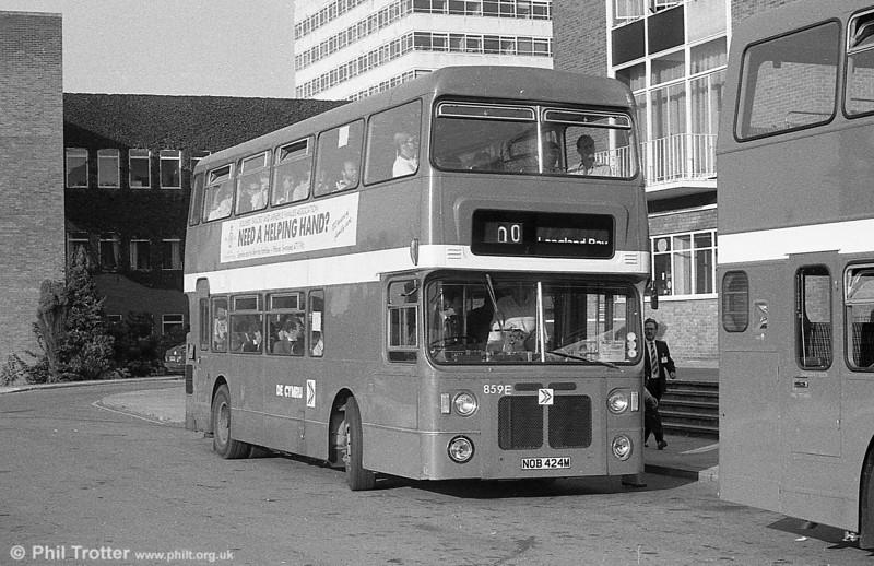 859 (NOB 424M), a Bristol VRT/MCW  H43/31F, ex-West Midlands PTE 4424 at Swansea.