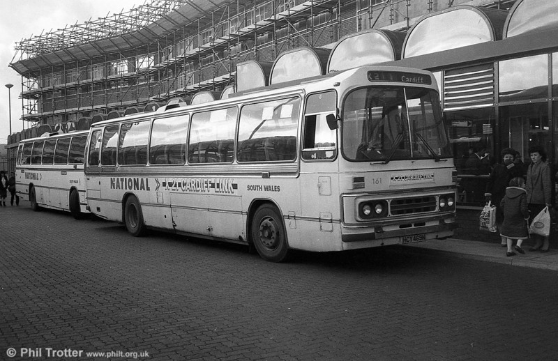 AEC Reliance/Duple DP51F 161 (HCY 469N) at Cardiff.