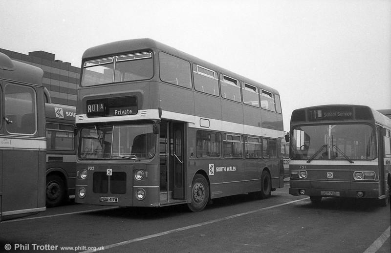902 (NOB 417M), a Bristol VRT/MCW  H43/31F, ex-West Midlands PTE 4417 at Swansea.