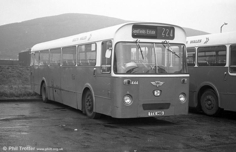 1969 AEC Reliance/Marshall DP49F  444 (TTX 141G), new to Thomas Bros., Port Talbot.