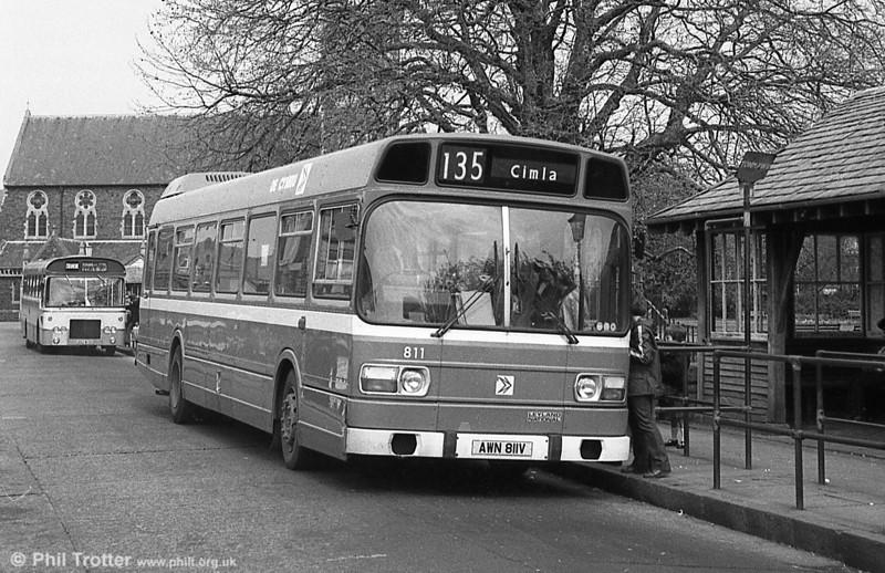 Leyland National/B52F 811 (AWN 811V) at Neath.