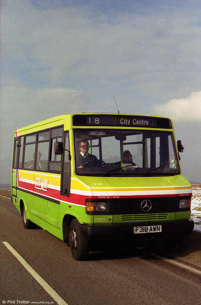 709D 318 (F318 AWN) photographed in Gower when still quite new.