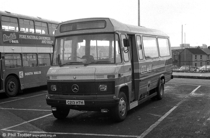 213 sits at the Quadrant Bus Station during the period of driver familiarisation which preceded entry into service.