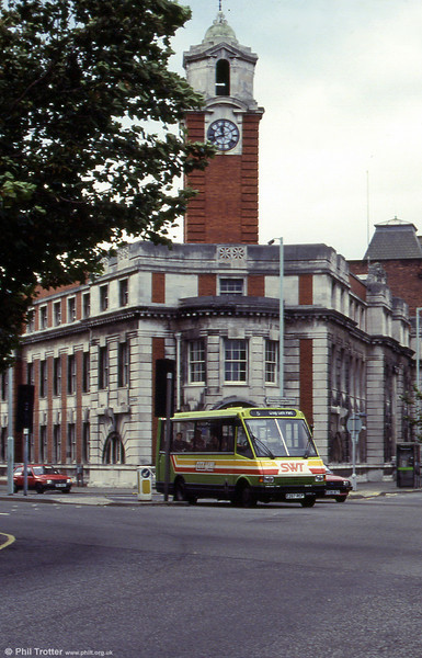 MCW 267 passes the former Swansea Central Police Station.