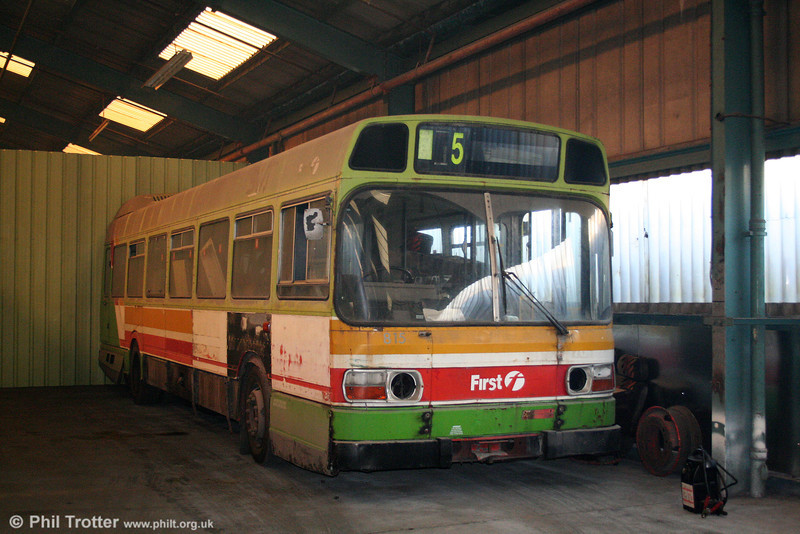 Leyland National B52F 815 (AWN 815V), now preserved, on 27th December 2005.