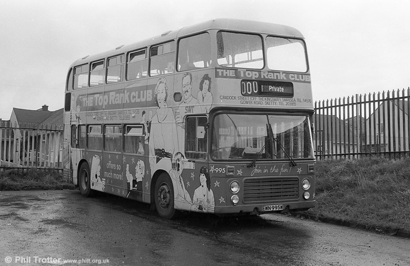 The last of the former NBC/SWT VRTs,  995 (EWN 995W) at Ravenhill.