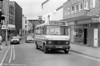 Minibuses started in Llanelli on 1st September 1986 under the 'Sosban Link' brand, the name having been selected from entries to a competition held in conjunction with local schools. 222 is seen in Park Street.