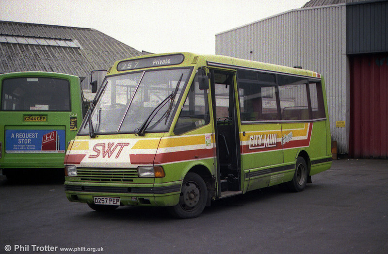 A study of MCW Metrorider MF150/6 257 at Ravenhill.