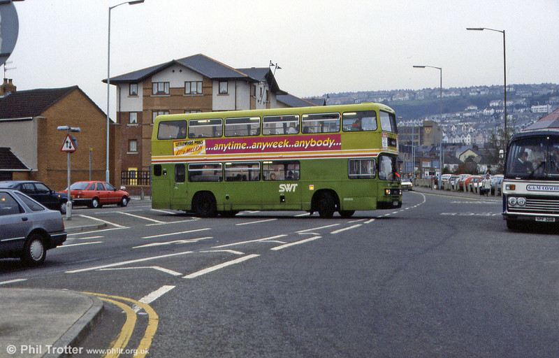 Olympian 906 (C906 FCY) at West Way, Swansea.