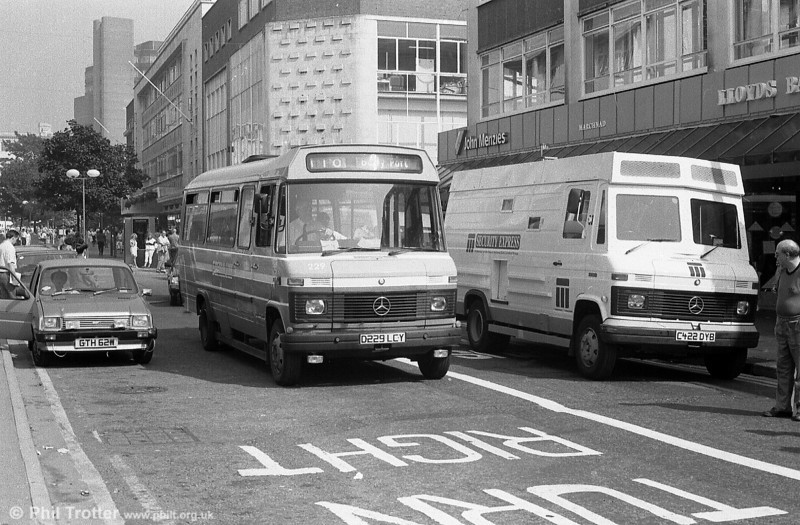 An interesting contrast in Mercedes vehicles at Oxford Street, Swansea.