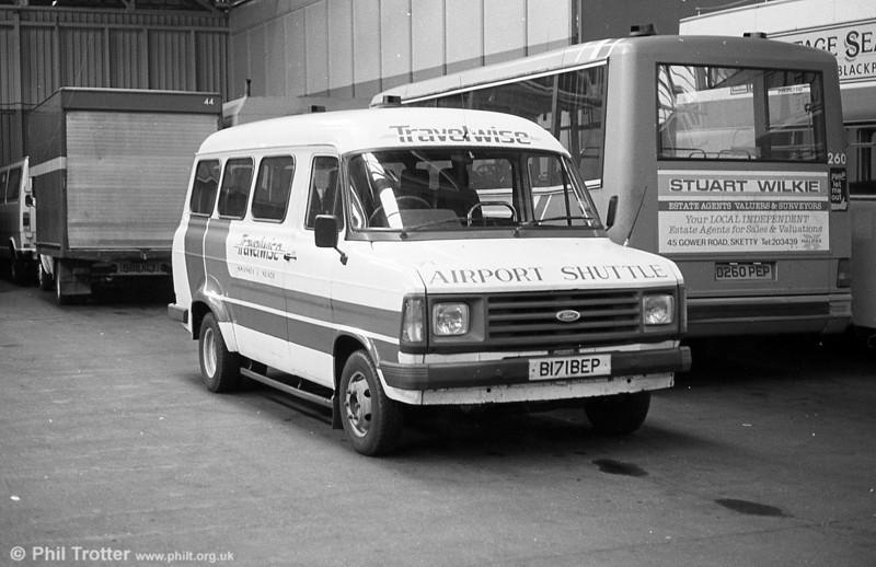 1985 Ford Transit/Williams Deansgate B12F 71 (B171 BEP).