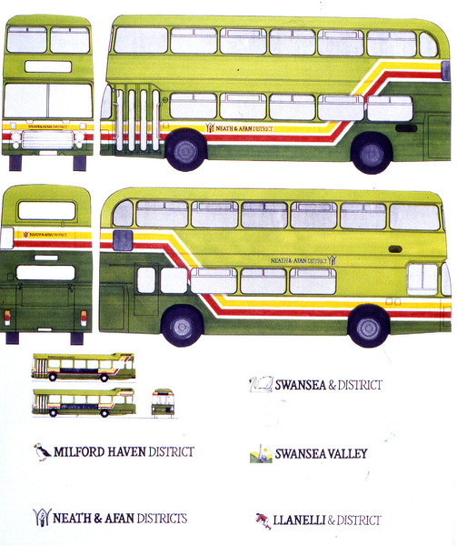 Above is some of the original artwork which includes a number of differences from what was eventually adopted as the standard. The proposed 'geographic' local identities were dropped in favour of the 'CityMini', 'SosbanLink', 'MiniLink' etc., names.