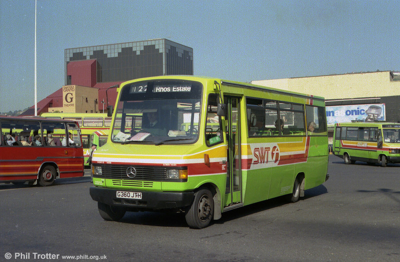 Showing the later SWT fleetname, 360 is seen at the Quadrant Bus Station.