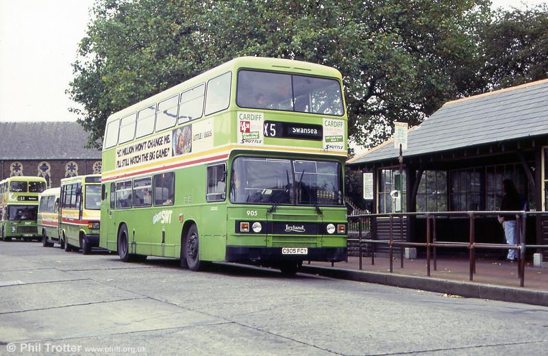 Olympian 905 (C905 FCY) at Neath, Victoria Gardens.