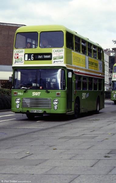 VRT 984 (BEP 984V) at Princess Way, Swansea.