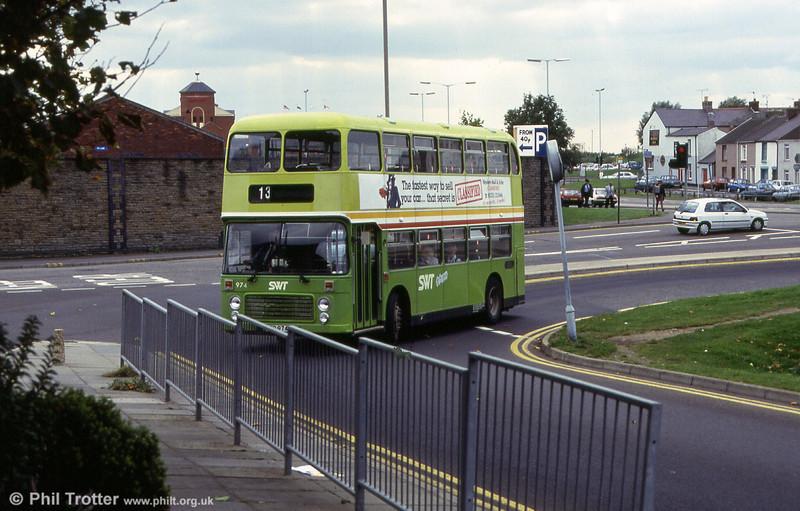 VRT 974 (BEP 974V) at the Quadrant Bus Station.