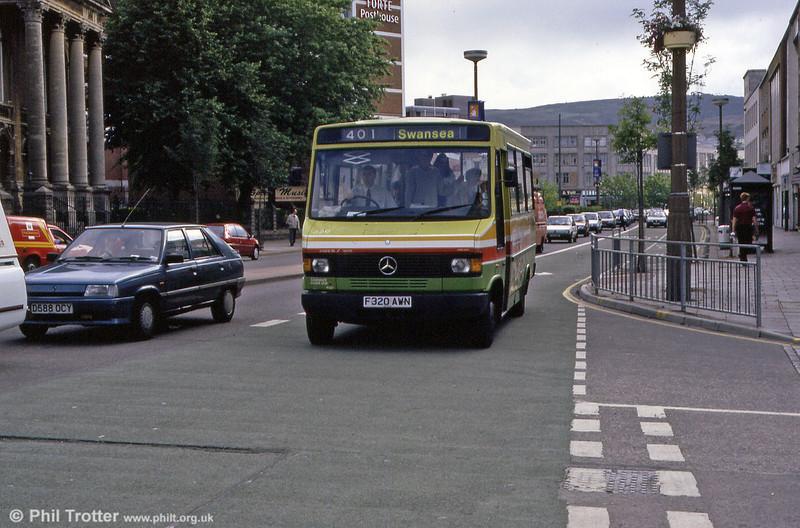320 at Kingsway, Swansea.