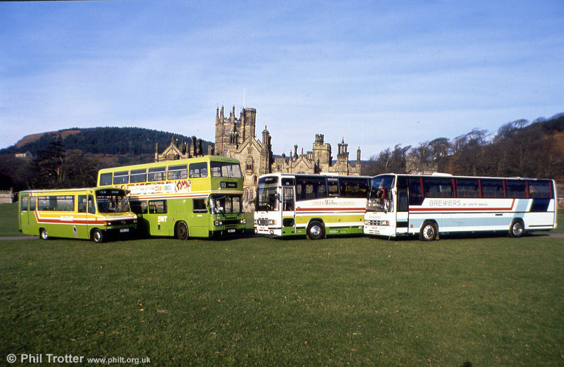 Another line-up, this time of representatives from the SWT and Brewers fleets at Margam Park.