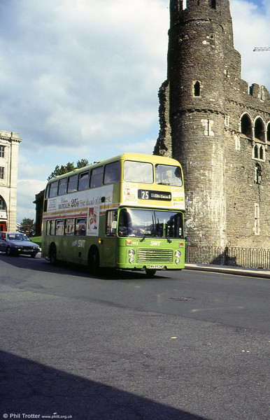 VRT 992 (EWN 992W) passes Swansea Castle.