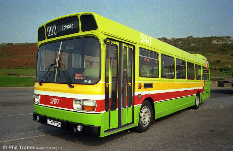The first Leyland National to be repainted in the new green livery was 773 (JTH 773P).