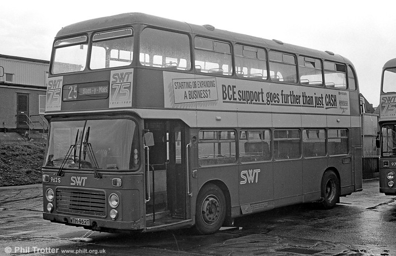 Bristol VRT, 962 (WTH 962T) a BristolVRT/SL3 with ECW H43/31F, seen at Ravenhill.