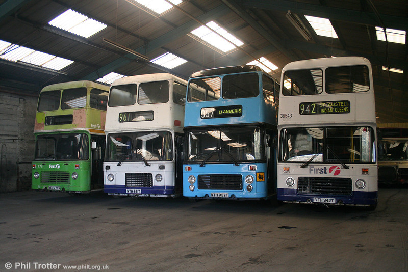 Bristol VRTs 978, 961, 957 and 942 in preservation. 27th December 2005.