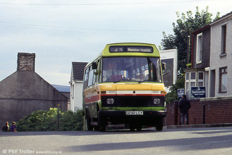 230 in hill-climbing mode on service 43.