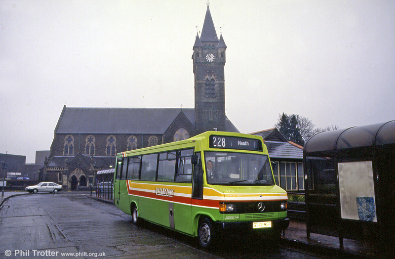 Another rebuild was 372 (G372 MEP) seen at Victoria Gardens, Neath in December 1992.