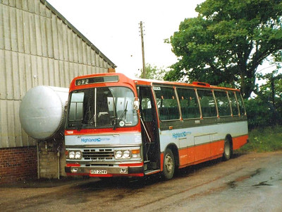 Highland Scottish T165 (VST224V), Wick, 21st June 1988