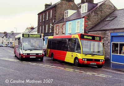 DG Buses X200CBC and King YJ07VRL, Castle Douglas, 18th August 2007