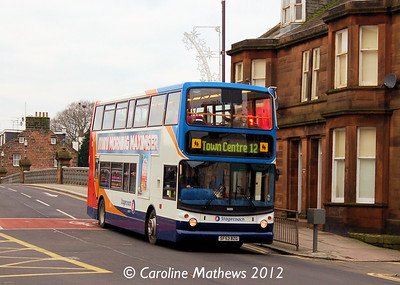 Stagecoach 18000 (SF53BZG), Dumfries, 14th January 2012