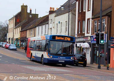 Stagecoach 22380 (SF55RJX), Dumfries, 14th January 2012