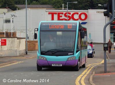 McCalls YJ13HKK, Goods Station Road, Lockerbie, 16th August 2014