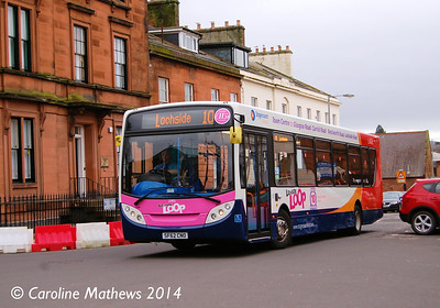 Stagecoach 27815 (SF62CNO), George Street, Dumfries, 15th March 2014
