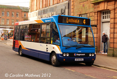 Stagecoach 47065 (SF04SKJ), Dumfries, 14th January 2012