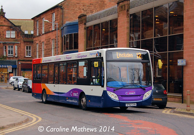 Stagecoach 36708 (SF62CXN), Charlotte Street, Dumfries, 15th March 2014