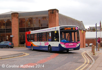 Stagecoach 27813 (SF62CNC), Charlotte Street, Dumfries, 15th March 2014