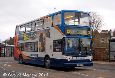 Stagecoach 18000 (SF53BZG), Whitesands, Dumfries, 15th March 2014