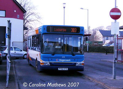Stagecoach 33078 (PY02KTO), Butts Street, Annan, 17th February 2007 Western33078_17Feb07