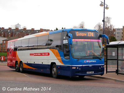 Stagecoach 54027 (SF07AMV), Whitesands, Dumfries, 15th March 2014