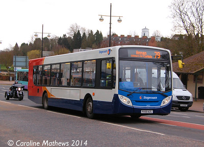 Stagecoach 24122 (PX59AZL), Whitesands, Dumfries, 15th March 2014