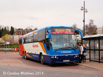 Stagecoach 54024 (PX07EAC), Whitesands, Dumfries, 15th March 2014