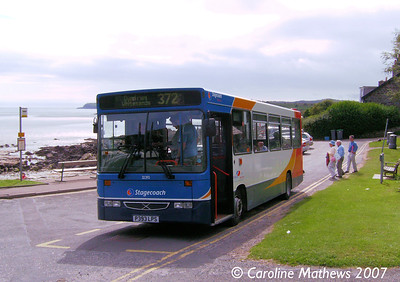 Stagecoach 32393 (P393LPS), Rockcliffe, 25th August 2007
