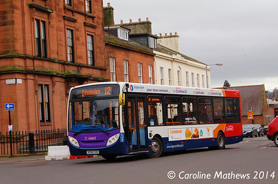Stagecoach 36706 (SF62CXE), George Street, Dumfries, 15th March 2014