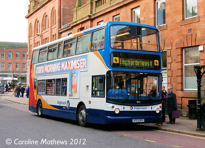 Stagecoach 18003 (SF53BYV), Dumfries, 14th January 2012
