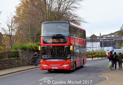 Borders Buses 41105 (YR61RVM), Stirling Street, Galashiels, 11th November 2017