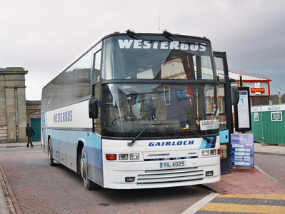 Westerbus Volvo B10M-60/Jonckheere YIL4029 loading in the Bus Station, 19th February 2005