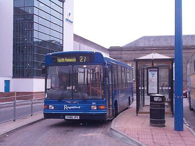 Rapsons Marshall Minibus 201 (S388JPS) at Inverness Bus Station