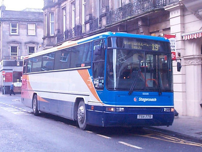 Stagecoach Volvo B10M-62 52228 (TSV778) working a Dingwall service on Queensgate. A rubbish photo included here as a record of my having seen the vehicle.